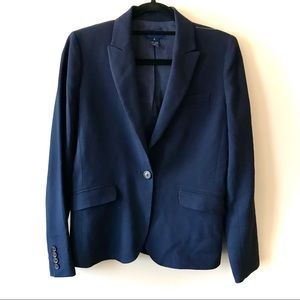 J. Crew School Boy Wool Blazer Navy Single Button